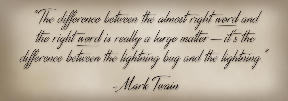 <Mark Twain>